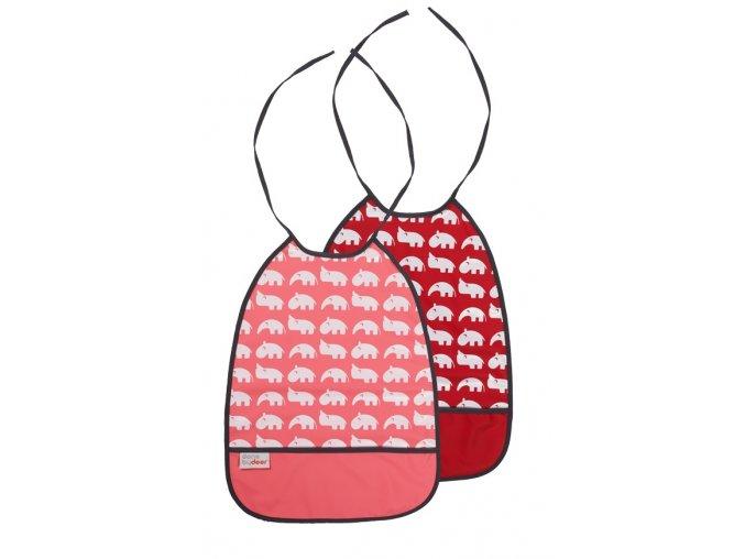 Set 2 ks bryndáčků - odstíny malinové