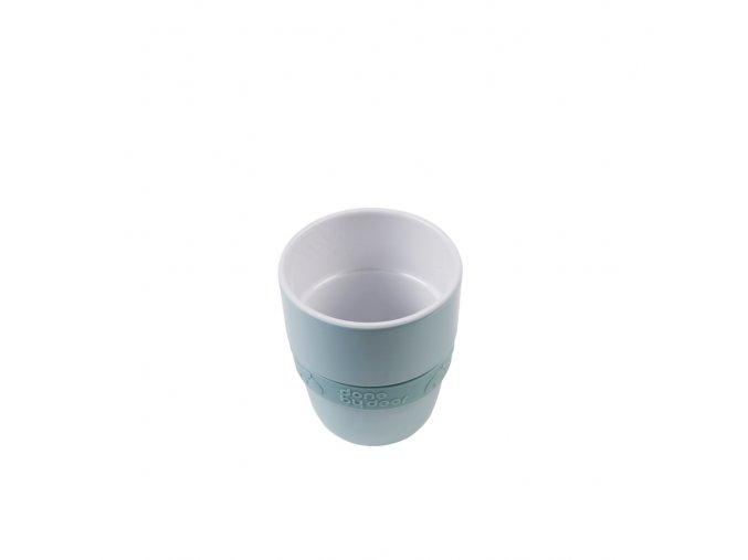 Hrníček Elphee Yummy mug se silikonovým kroužkem - modrý