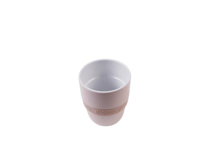 Hrníček Elphee Yummy mug se silikonovým kroužkem - růžový