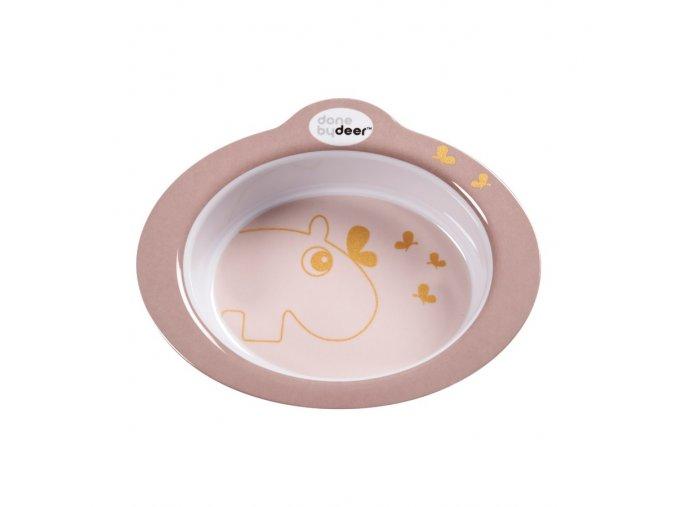 Protiskluzová miska s úchyty Contour - světle růžová