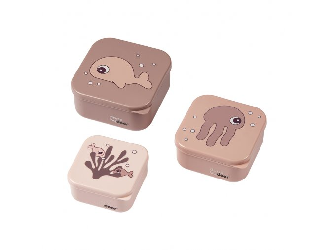 Svačinový box Sea friends 3ks - Powder