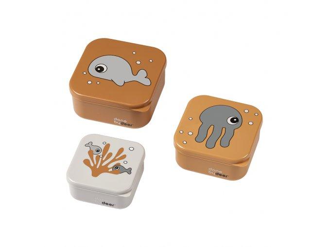 Svačinový box Sea friends 3ks - Gold