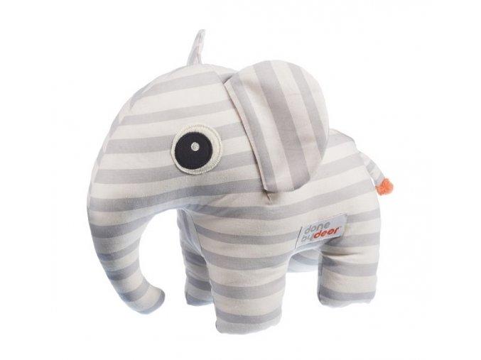 Mazlivá hračka Elphee s obrázkovou knížkou - šedá