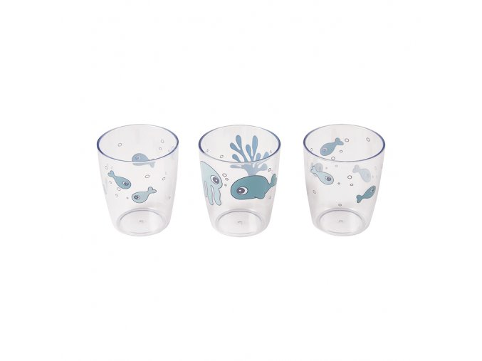 Sea Friends mini skleničky 3ks - modré