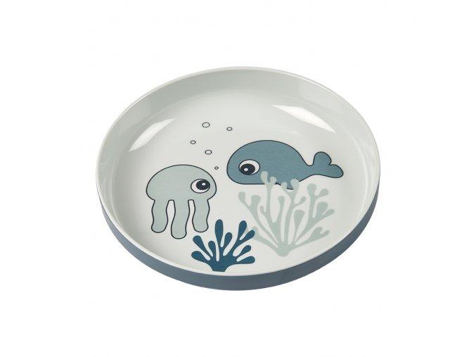 Talíř Sea Friends Yummy - modrá