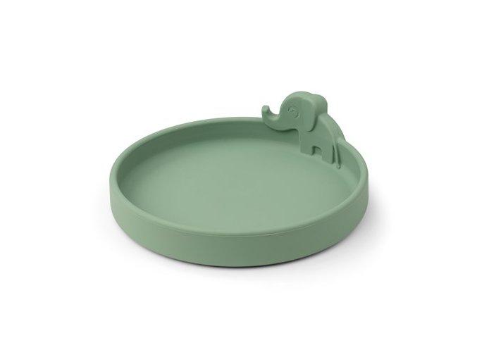 Peekaboo talíř Elphee - zelený