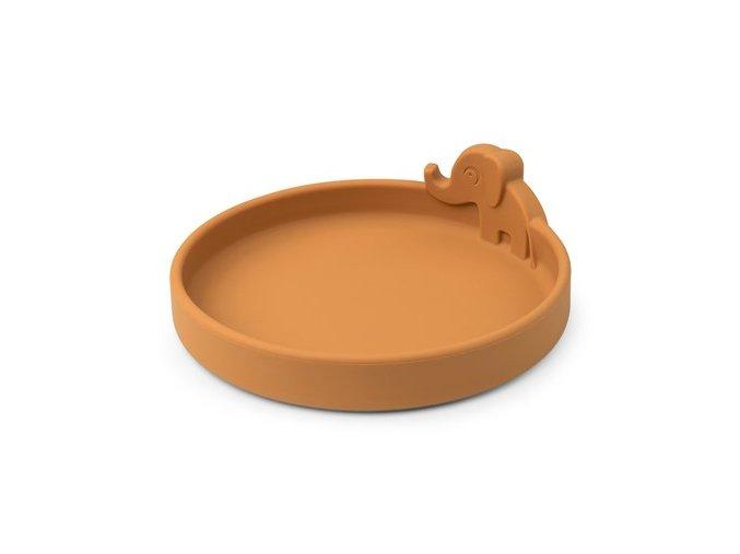 Peekaboo talíř Elphee - hořčicový