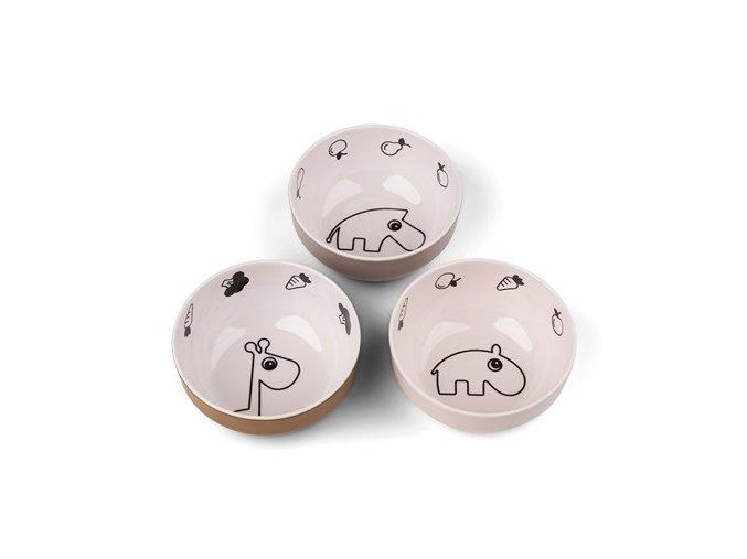 Yummy mini mistička Deer friends 3ks - růžová