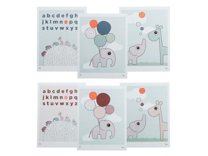 Dětské plakáty 3 ks -  oboustranné