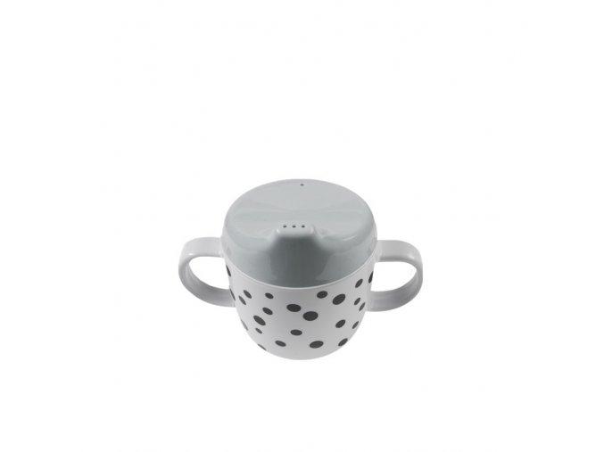 Hrníček Happy Dots s oušky - šedý
