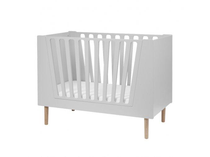 Dětská postýlka 120x60 cm - šedá