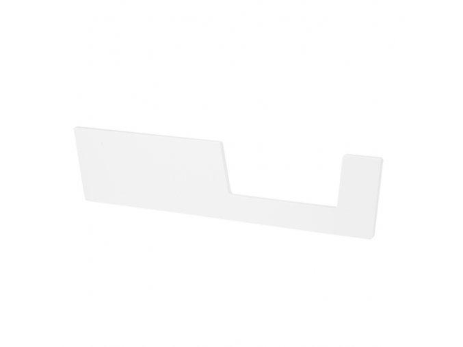 Zábrana k postýlce 120x60 cm - bílá