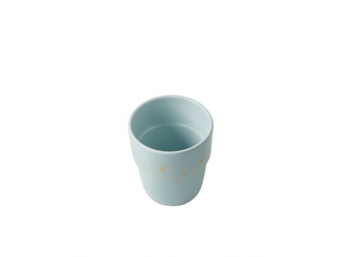 Hrníček Contour Yummy mug - modrá/zlatá