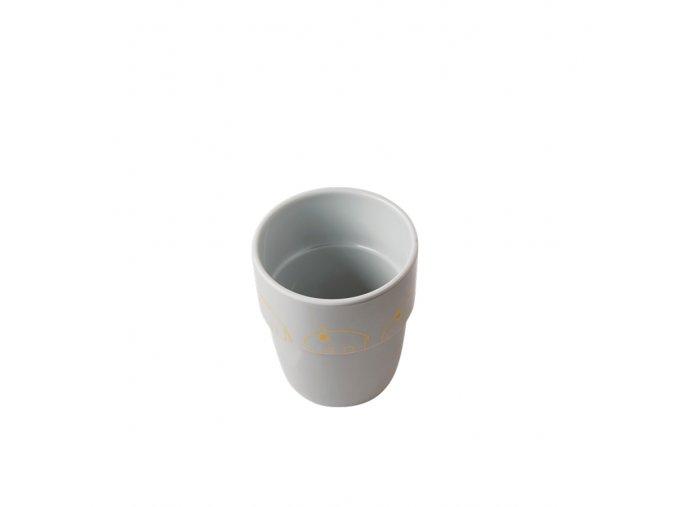 Hrníček Contour Yummy mug - šedá/zlatá