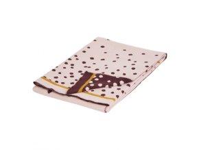 Pletená deka Happy dots, růžová