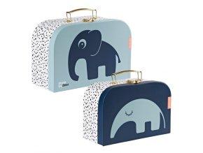 Set 2ks kufříků - modrá