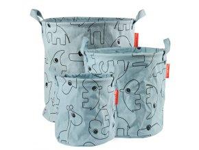 Set 3ks měkkých odkládacích košíků Contour - modré