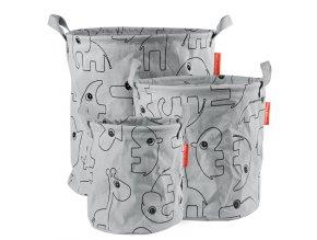 Set 3ks měkkých odkládacích košíků Contour - šedé