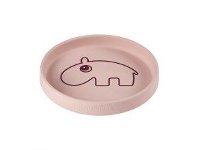 Silikonový talíř kulatý Ozzo - růžový