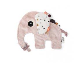 Přítulka sloník Elphee - růžová
