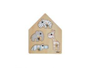 Dřevěné puzzle Deer friends