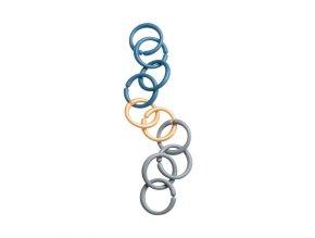 Hrací kroužky/spona - modrá