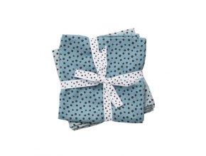 Mušelínové zavinovací plenky Happy dots 2ks - modré