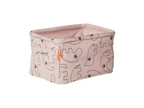Oboustranný měkký úložný košík - růžový