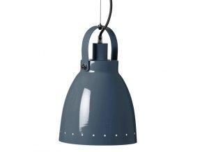 Kovová lampa - tmavě modrá