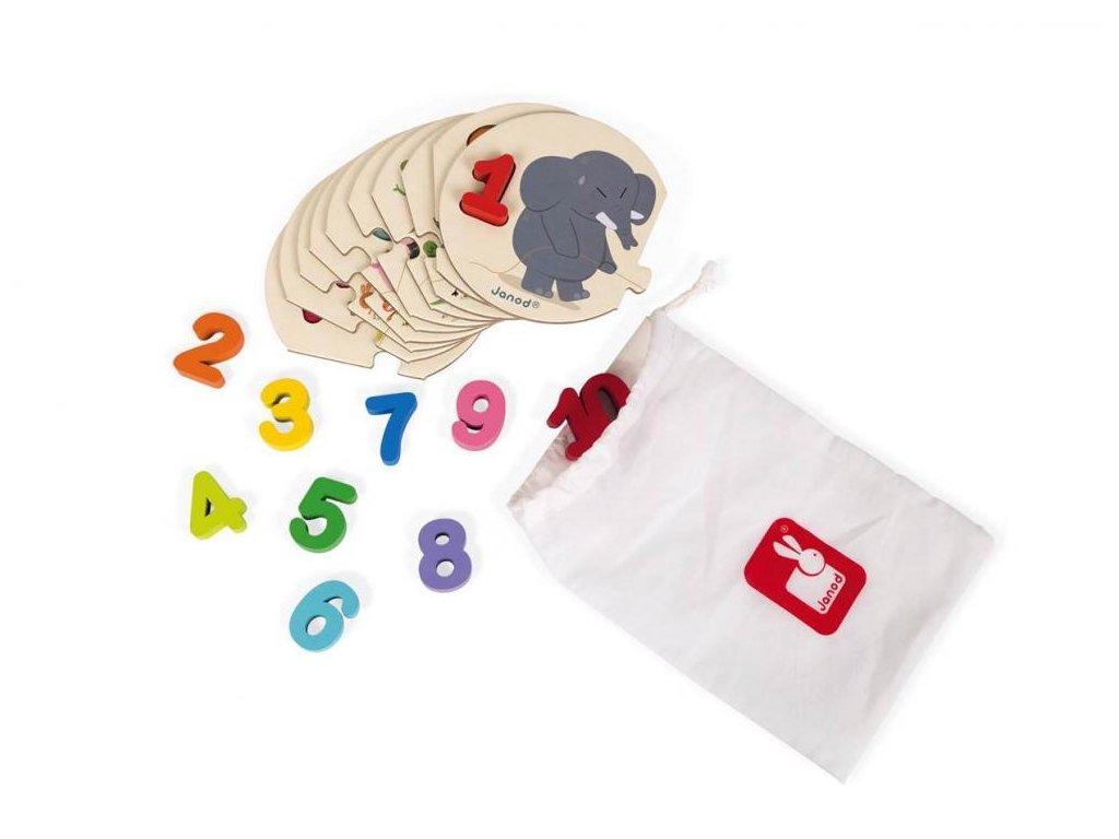 Janod Puzzle - Učím se čísla