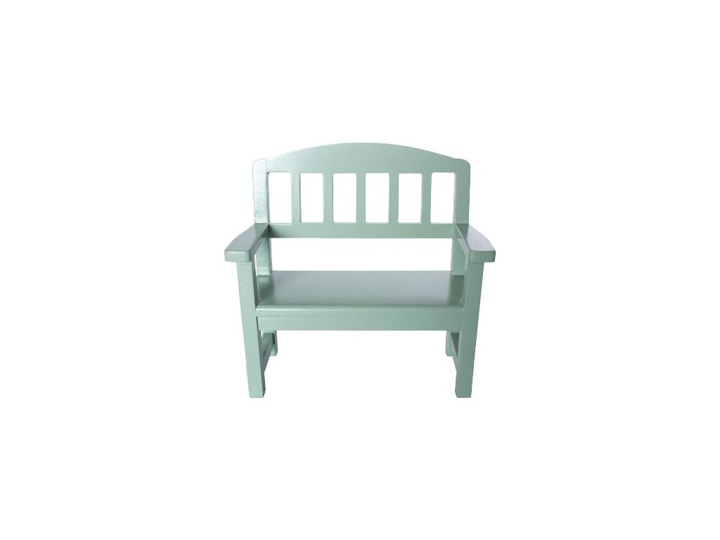 wooden bench green