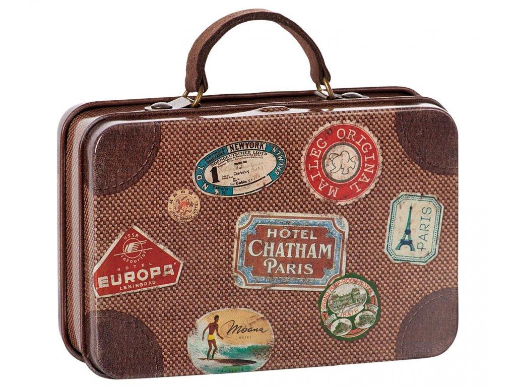 Maileg Plechový kufřík cestovní hnědý