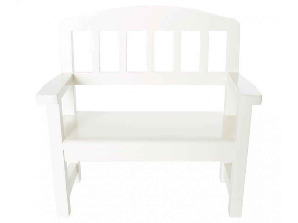 Maileg Dřevěná lavice bílá