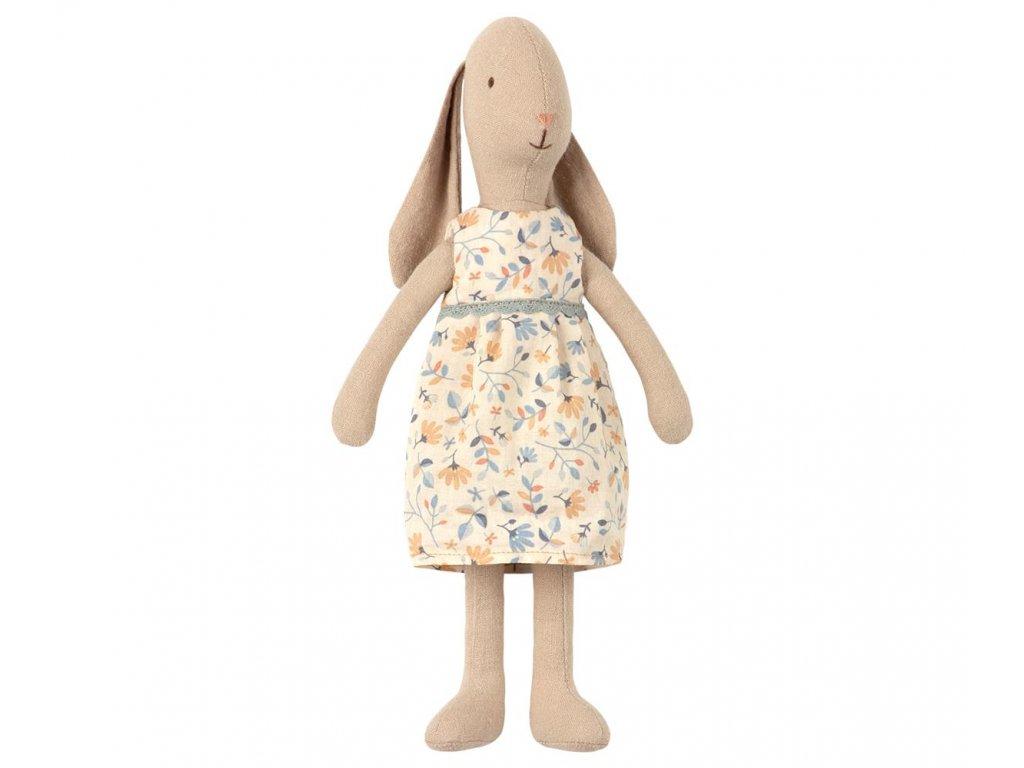 Maileg Králičí slečna v květovaných šatech - Size 2