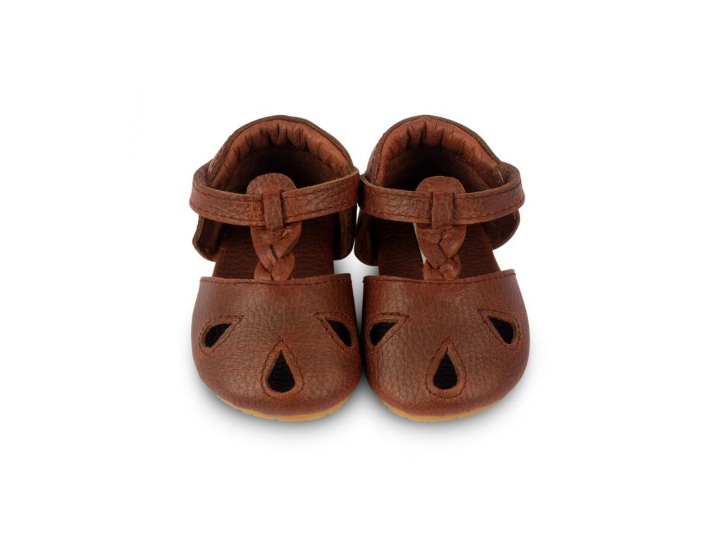 dudu dark brown grain leather 2