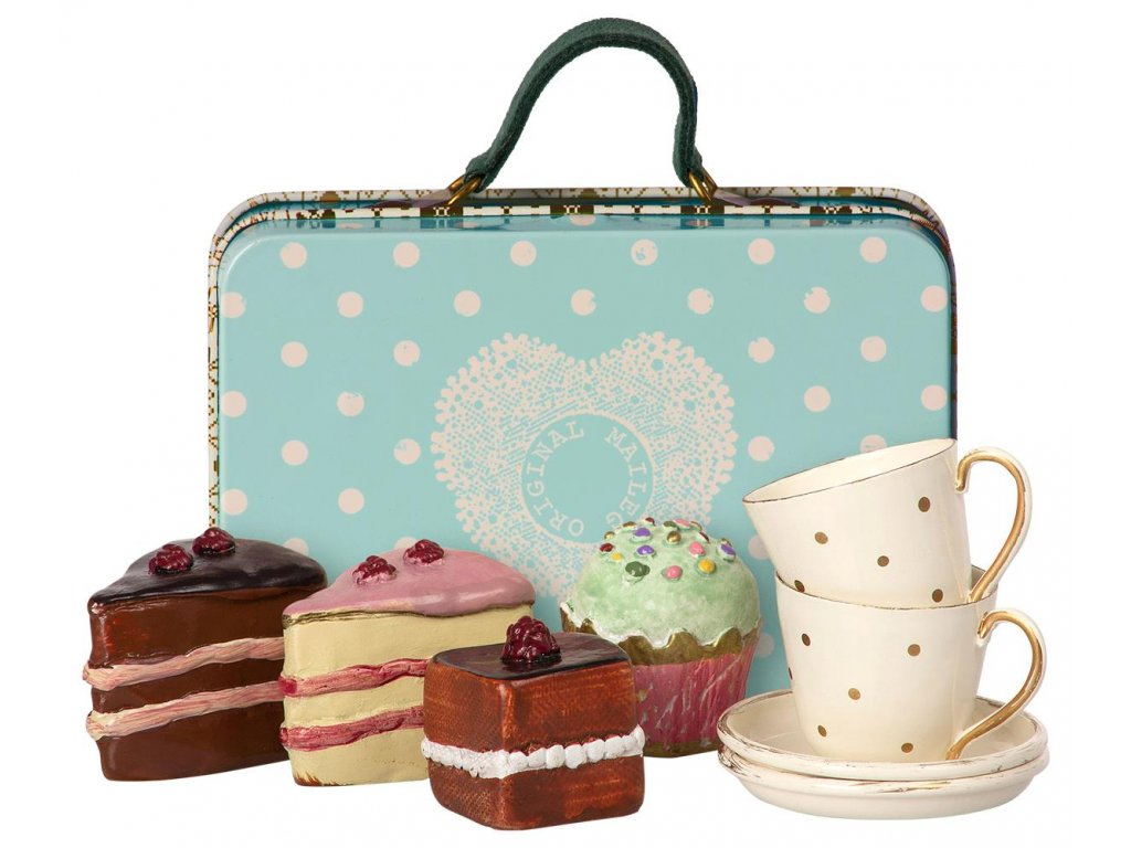 suitcase with cakes