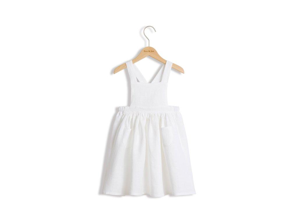 Roe&Joe Lněné šaty N°3 - bílé