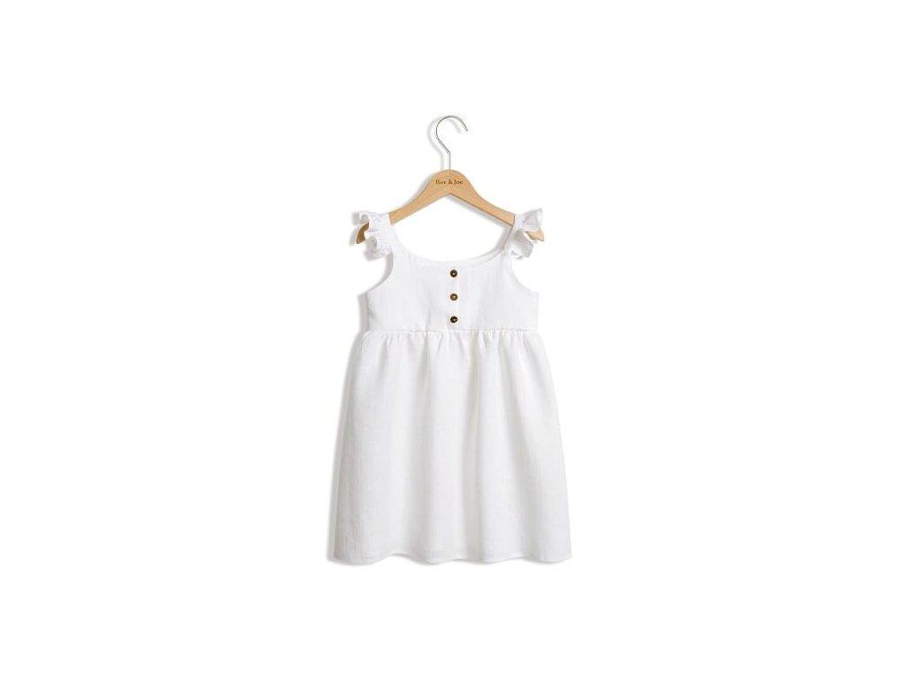 Roe&Joe Lněné šaty N°2 - bílé