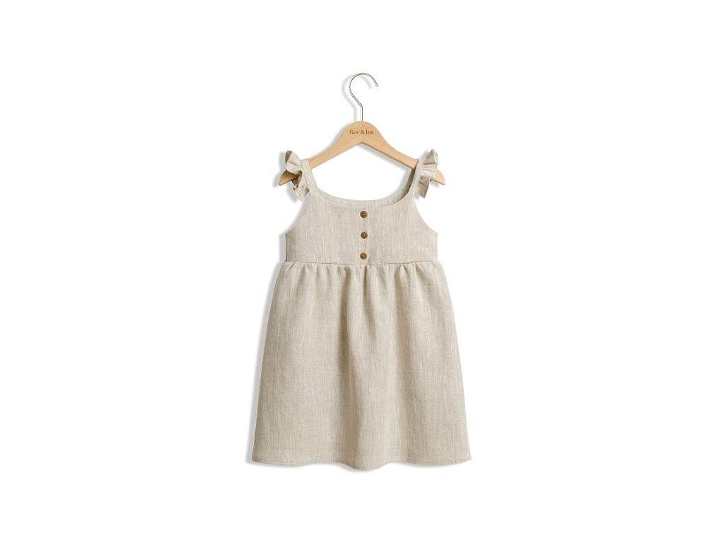 Roe&Joe Lněné šaty N°2 - přírodní