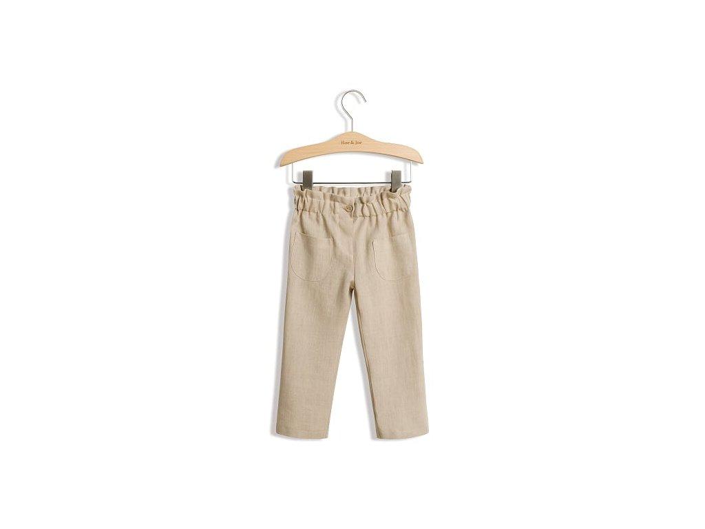 Roe&Joe Lněné kalhoty - písková