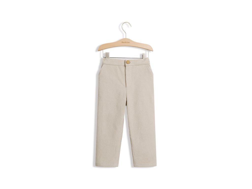 Roe&Joe Manšestrové kalhoty - béžová