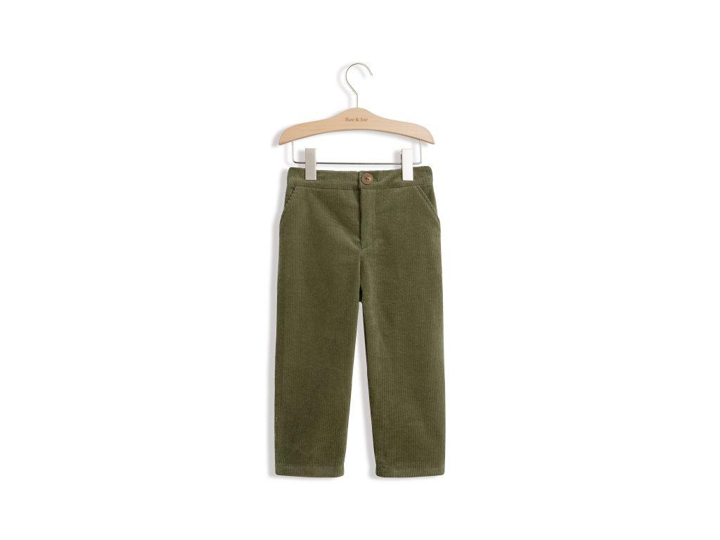 Roe&Joe Manšestrové kalhoty - zelená