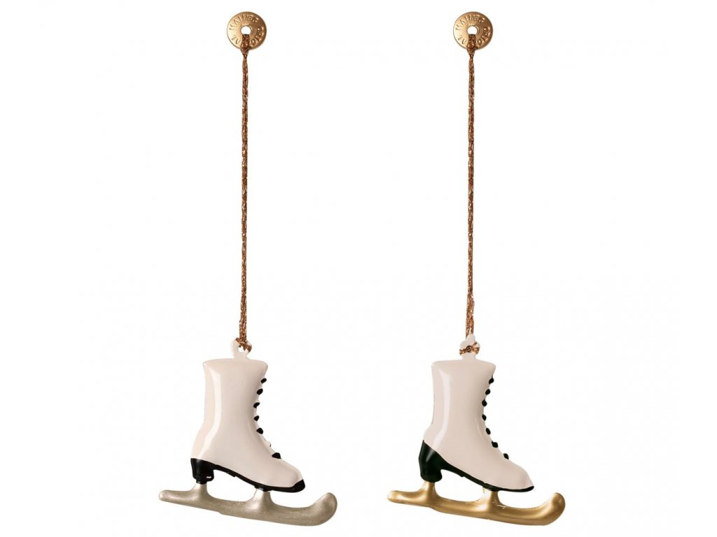 metal ornaments in box 2 skates