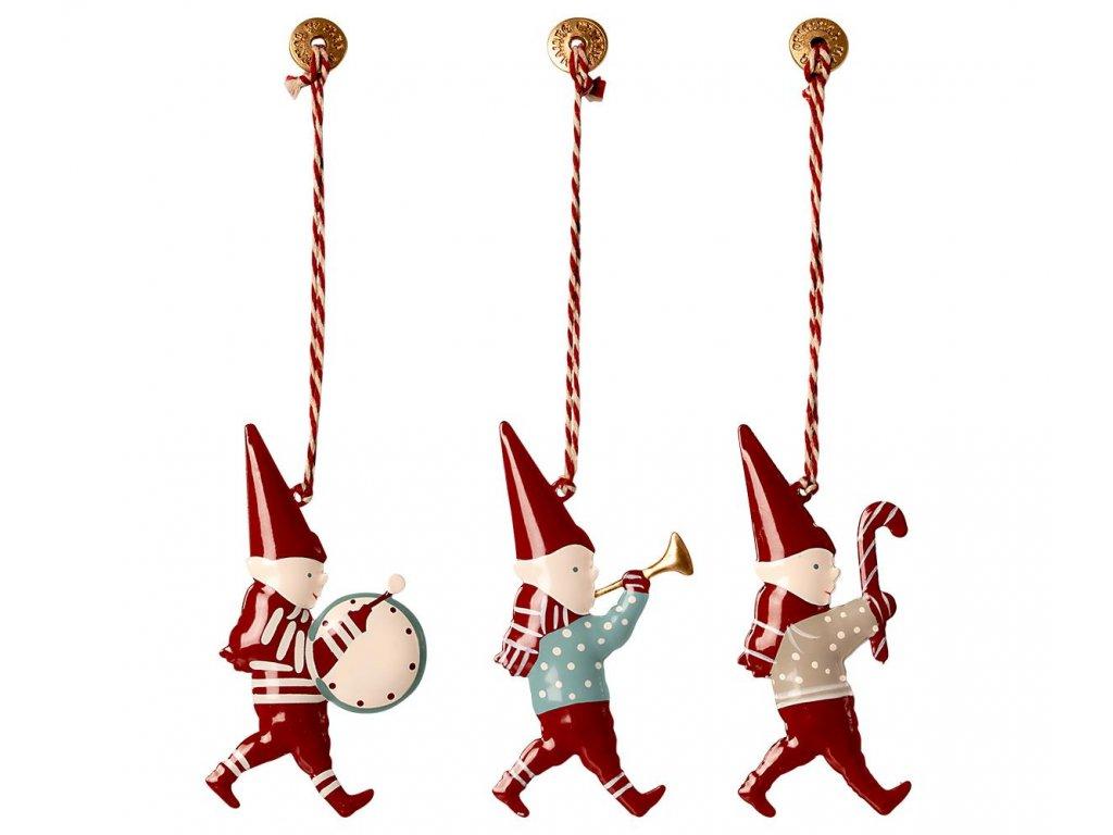 metal ornaments in box 3 pixies