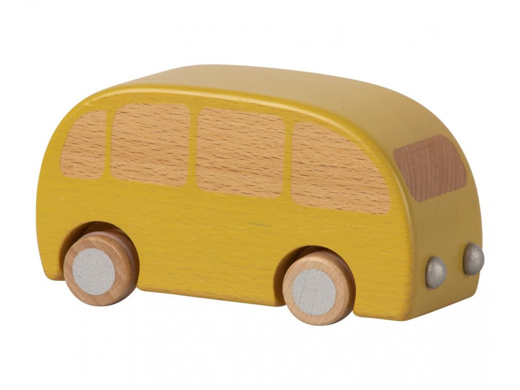 wooden bus yellow