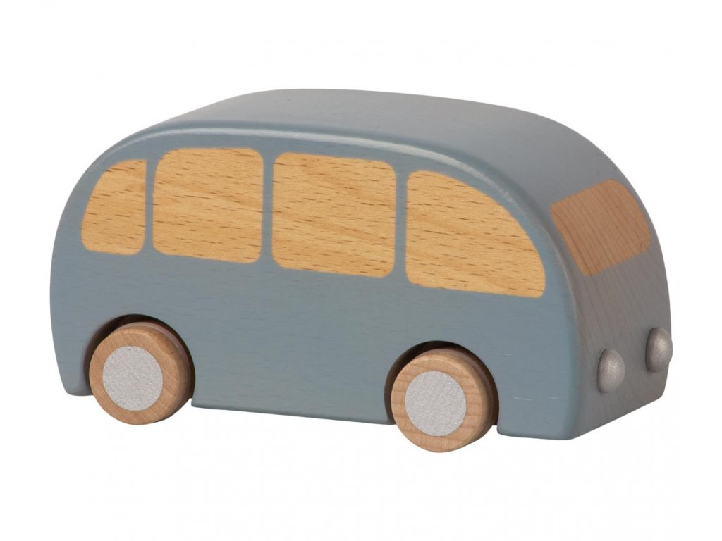 wooden bus blue