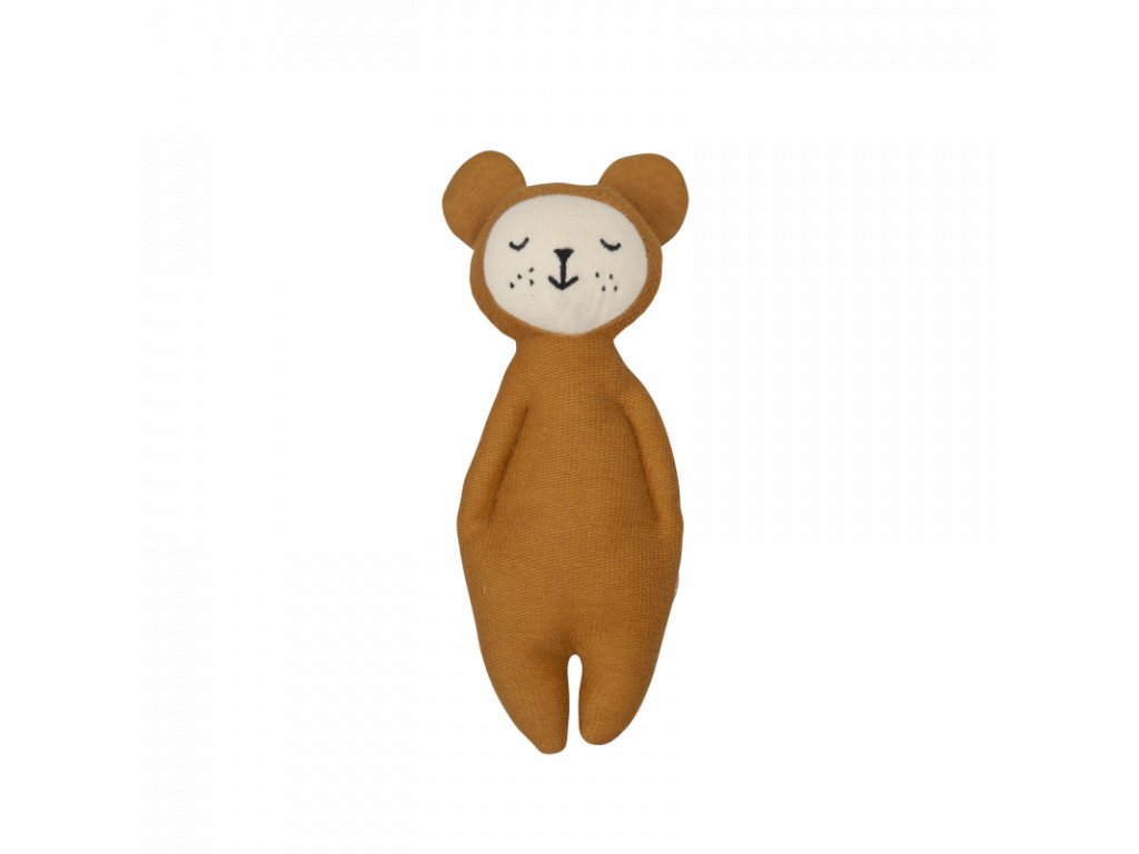 Rattle Soft Bear Ochre (primary)