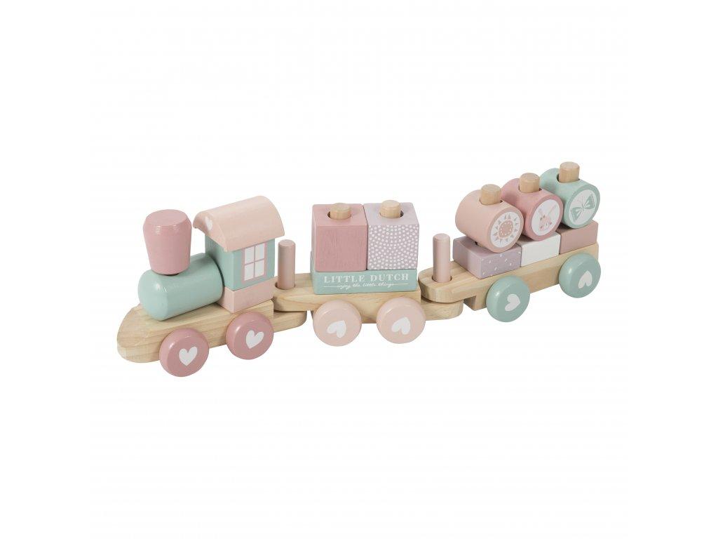 4416 wooden train adventure pink