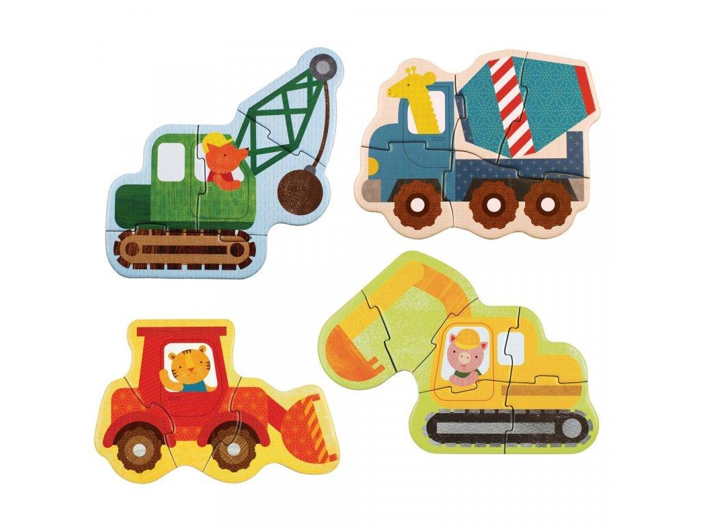 Petitcollage První puzzle - Stavební stroje