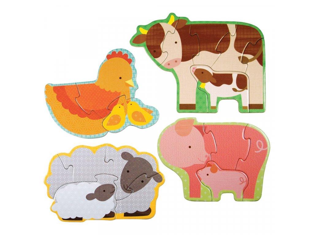 Petitcollage První puzzle - Zvířátka z farmy